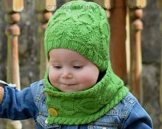 Knitting Pattern - Grapevine Hat and Scarf (Baby, Child, Adult sizes) in ENG and RUS Short Scarves, Hat And Scarf Sets, Stockinette, Kids Hats, Needles Sizes, Stitch Markers, Wool Yarn, Adulting, Grape Vines