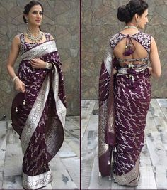 The beauty of a blouse is in its styling. That's when I stumbled upon these beautiful blouse back neck designs. check out the latest blouse designs. Blouse Designs High Neck, Silk Saree Blouse Designs, Fancy Blouse Designs, Saree Blouse Patterns, Designer Blouse Patterns, Dress Designs, Indian Blouse Designs, Mary Janes, Stylish Blouse Design