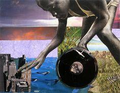 Krista Franklin, Transatlantic Turntable-ism, mixed media. from Callaloo's Hip Hop issue