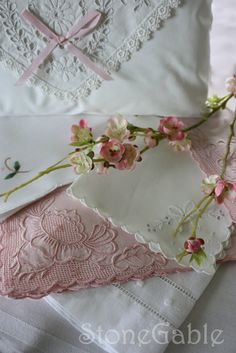 A great tutorial about caring for vintage linens, beautiful linens, a favorite!
