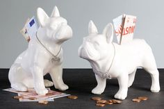French bulldog sitting, money box white, height 17 cm On the left of the photo inches centimeters) Fast shipping and French Home Decor, Bull Terrier Dog, Money Box, Boutique, Piggy Bank, Gifts For Mom, Ceramics, Collection, List