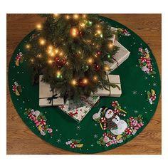 Bucilla Original Carpeta Pie De Arbol Navideño Navidad
