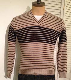 Vintage MENS Dimension by Milford striped black and by pandaJpanda, $28.00