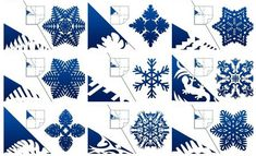 How to DIY Pretty Kirigami Snowflakes (Free Template) | www.FabArtDIY.com