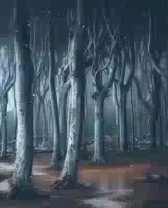 Fröhliches Halloween, Halloween Pictures, Vintage Halloween, Creepy Gif, Creepy Images, Haunted House Pictures, Gif Terror, Haunted Woods, Ghost Videos