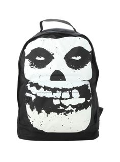 Iron Fist x Misfits backpack with iconic Fiend Skull design.