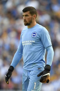 Mathew Ryan of Brighton looks on during a Pre Season Friendly between Brighton & Hove Albion and Atletico Madrid at Amex Stadium on August 6, 2017 in Brighton, England. Brighton & Hove Albion, Brighton England, Mathew Ryan, World Football, Premier League Matches, Manchester City, That Look, Two By Two, Soccer