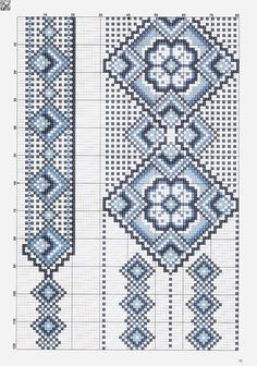 Photo from album on Yandex. Just Cross Stitch, Cross Stitch Borders, Cross Stitch Designs, Cross Stitching, Cross Stitch Patterns, Beaded Embroidery, Cross Stitch Embroidery, Embroidery Patterns, Peyote Patterns