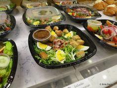 Epcot's Les Halles Bakery Lyonnaise salad with greens, bacon, egg, croutons and vinaigrette