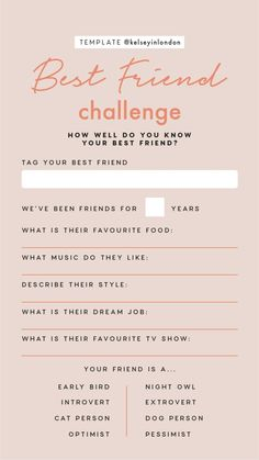 I hope i have bestie then i fill this T. Snapchat Question Game, Snapchat Questions, Instagram Story Questions, Instagram Story Ideas, Whatsapp Name, Best Friend Application, Best Friend Challenges, Bingo Template, Templates Free