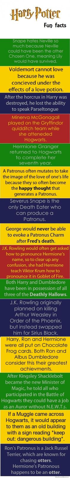 "This just created a wave of emotion... Are these really true?  Did all of these ""facts"" come from J.K. Rowling? I need to know!  The one about Sirius makes me really sad although I would miss Arthur too..."