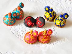 Fully hand made polymer clay jhumkas Hrithika The Clay Boutique