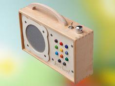 Meet hӧrbert. Portable, wooden, DIVINE mp3 player for kids!
