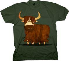 Yak T-shirt by Zoo-Tees.com, for men, women and children. http://pinterest.com/nfordzho/2013-fashion-t-shirts/