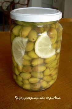 Olives the Cretan way. Food Network Recipes, Food Processor Recipes, Cypriot Food, Vegetarian Recipes, Cooking Recipes, Canning Tips, Good Food, Yummy Food, Greek Cooking