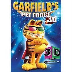Garfields Pet Force (DVD, 2010, 3D) with Glasses  #TwentiethCenturyFox
