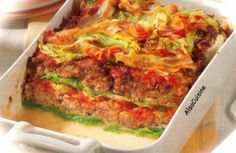 Fausses lasagnes au chou frisé (fake lasagna with kale - recipe in French) - If you use google it can translate it for you.