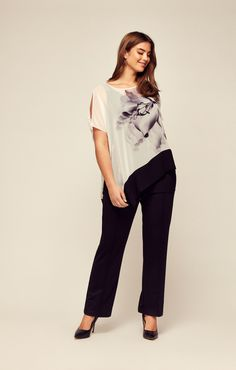 4b598edc Our pretty monochrome lily print top with an asymmetric hem is another  great addition to our. Evans