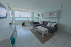 Apartment in Fajardo, Puerto Rico. This newly renovated Beach Apartment, equipped with everything you need for an enjoyable and confortable stay. A bright cozy space with an amazing view of the ocean and overlooks the marina and Palominito Island. This is the place to be!  A one-be...