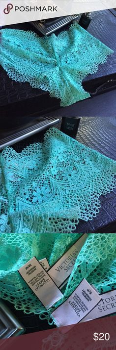 NWT Victoria's Secret MINT crochet shortie |💀| Victoria's Secret crochet shortie |💀| NEW WITH TAGS  |💀| lace hipster panties     Use the OFFER BUTTON • bundle for 10% off       🤗 please no drama ladies lets be nice 🤗    • 5 star rating • over 300 sales • smoke free home • 100% authentic • packedtokill •         |💀| www.thethugwife.com |💀|            🚫 🙅🏻 N O   TRADES 🙅🏻 🚫 Victoria's Secret Intimates & Sleepwear Panties
