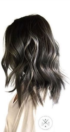 dark ashy brown and grey toned hair