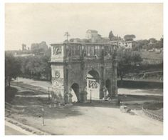 Italie, Roma, Arco di Costantino Vintage silver print Tirage argentique 8x9 Circa 1910
