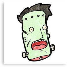 cartoon frankenstein monsterhead