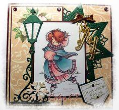 Carte de Noël faite le 28.10.2015 découpes M.Design