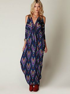 Mara Hoffman Printed Open Shoulder Kaftan at Free People Clothing Boutique  - StyleSays . a76b1ca325e