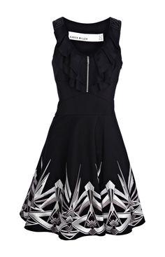 Karen Millen Embroider Dress Black [#KMM012] - $88.61 :