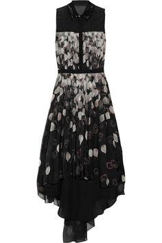12 Days of Holiday Dresses - Jason Wu Kaws Printed Silk-Chiffon Dress