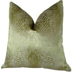 Plutus Hidden World Gold Handmade Throw Pillow, Double Sided, Yellow