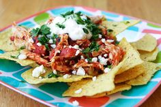Chicken Chilaquiles, reminds me of our trip to Mexico.  I ate these for breakfast every morning!