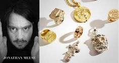 """For the """"Cada goes Art"""" Collection the Artists Aaron Curry, Andy Hope and Jonathan Meese teamed up with German jewellery label CADA Jonathan Meese, Fine Jewelry, Jewellery, Fashion Art, Curry, German, Jewelry Design, Label, Pearl Earrings"""