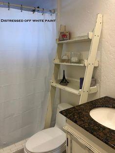 Trendy bathroom shelves over toilet beach 56 Ideas Over Toilet Storage, Bathroom Shelves Over Toilet, Bathroom Shelf Decor, Wood Bathroom, Bathroom Storage, Small Bathroom, Bathroom Ideas, Bathroom Remodeling, Downstairs Toilet