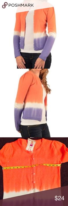"""Two toned cardigan Beautiful two toned crop cardigan . 55%rammie 45%cotton . Bust :16"""" lying flat. Beautiful colors that will go perfect with your wardrobe . Functional front button . Wear it open or close as per your choice . Pls ask any Q u have before u hit buy . 👍Bundle to save more . Sweaters Cardigans"""