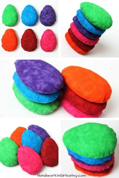 Rainbow Egg Shaped Bean Bags: http://etsy.me/1VowFO6