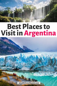 Planning a trip to Argentina? Here you have the best places to visit in Argentina for a trip of a lifetime from Buenos Aires to Patagonia and Perito Moreno! Argentina Destinations, South America Destinations, South America Travel, Visit Argentina, Argentina Travel, Ushuaia, Mendoza, Iguazu National Park, Argentina Culture