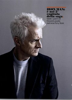L'uomo Vogue Editorial John Slattery Mad Men, February 2011 Shot #2