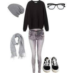 Cute nerd/lazy day outfit