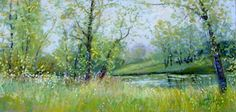 Silent Moments by Sandy Askey-Adams Pastel ~ 10 x 20
