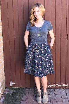 The Madison skirt with pleats and pockets- what more can you ask for? LuLaRoe Madison, classic tee  Click on the picture to shop!!   https://www.facebook.com/groups/LuLaRoeTrishaAdcock/