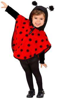 Children's Plush Ladybug Costume Infant 3 to 4 yrs for Animal Jungle Farm Fancy Dress Fancy Dress For Kids, Kids Dress Up, Fashion Kids, Costume Coccinelle, Mario Costume, Ladybug Costume, Kids Poncho, Hooded Poncho, Kid Outfits