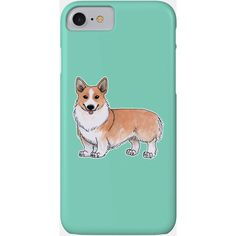 Welsh Corgi Phone Case (1.360 RUB) ❤ liked on Polyvore featuring accessories and tech accessories
