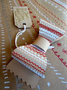 Christmas Countdown, Kraft paper Bows
