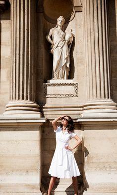 Bonheur White Shirt Dress