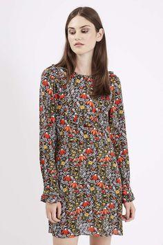 Woodland Floral Print Dress - Topshop