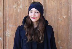 "Stirnband ""Jolle"" Angora Cashmere - dunkelblau von pikfine // all selfmade stuff auf DaWanda.com"