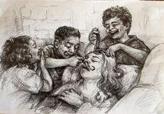 illustration,drawing,portrait,sketch,children