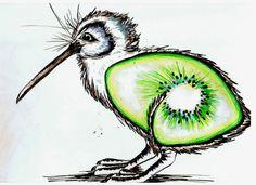 The kiwi fruit bird by ~keidapirate on deviantART